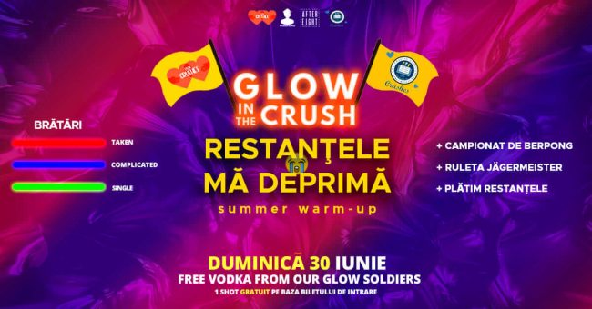 Glow in the CRUSH - Restanțele mă deprimă (UTCN & UBB Crushes) @ After Eight - Cocktail Club | Cluj-Napoca | Județul Cluj | România